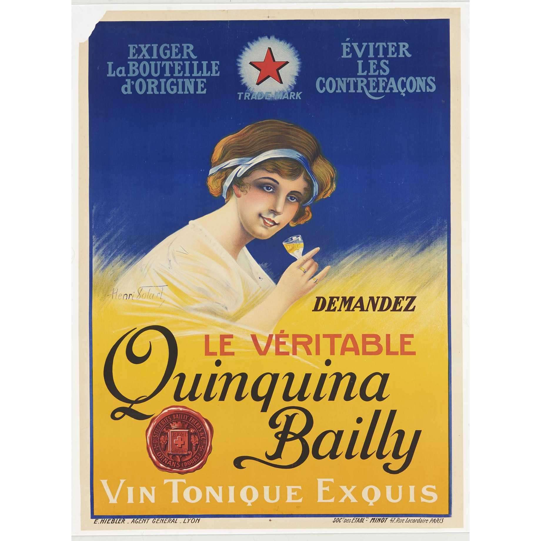 affiche quinquina Bailly